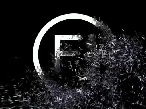 Шторм из букв — 3D анимационный видео логотип для компании Fantastic Imago